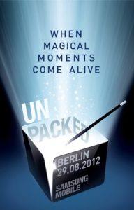 Unpacked Samsung evento