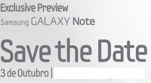 Convite galaxy Note 2 Portugal 2