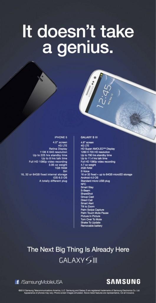Samsung publicidade completa iPhone 5