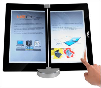 Leitor e-books Asus dual touchscreen