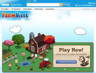 FarmVille chega ao Windows Live Messenger e MSN Games