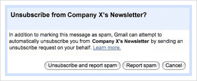 Gmail Spam Newsletter