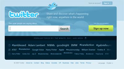 Twitter renova homepage