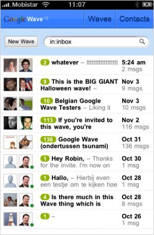 WaveBoard, Google Wave Client para iPhone