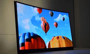 Televisor com design curvado