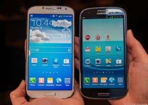 Galaxy s 4 e Galaxy s 3