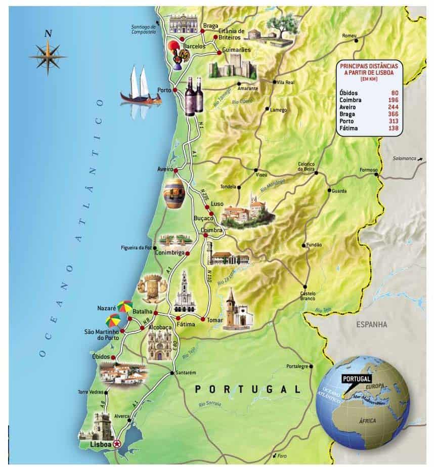 mapa portugal cidades turisticas Mais de 70% dos portugueses ficam em casa na Páscoa mapa portugal cidades turisticas