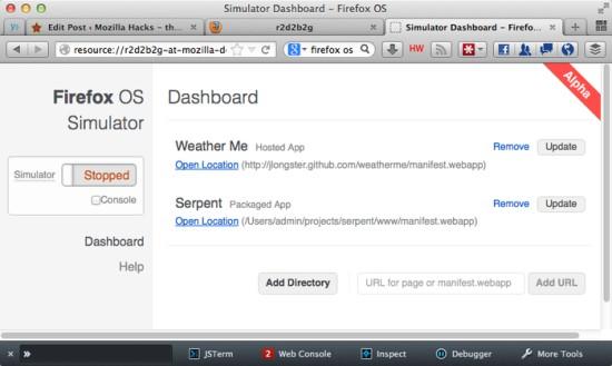 Firefox OS Simulator 3