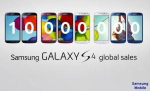 Galaxy s4 10 milhões