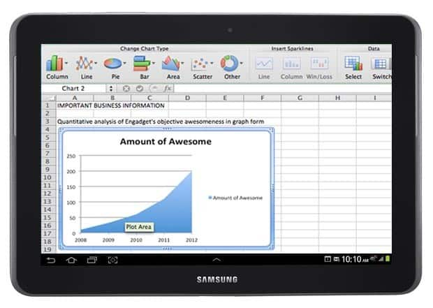 ms office tablet