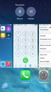 iOS 8 Contactos recentes