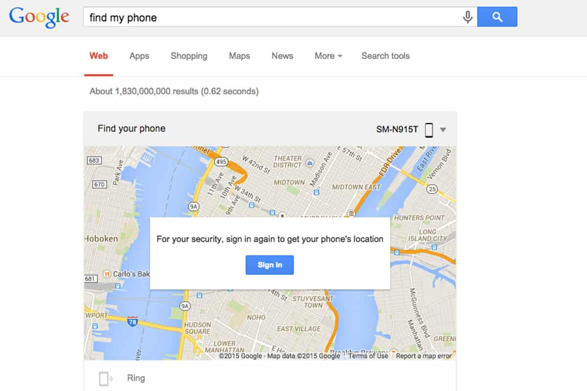 Google lança Find My Phone