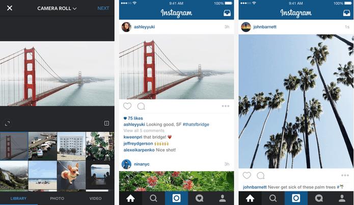 Instagram já aceita fotos sem ser apenas em formato quadrado