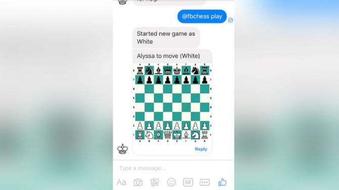 Facebook jogo xadrez