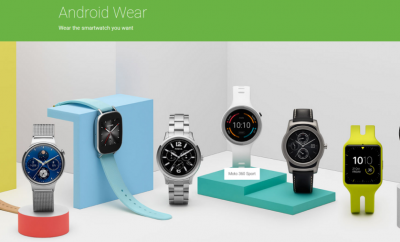 Android Wear novo site