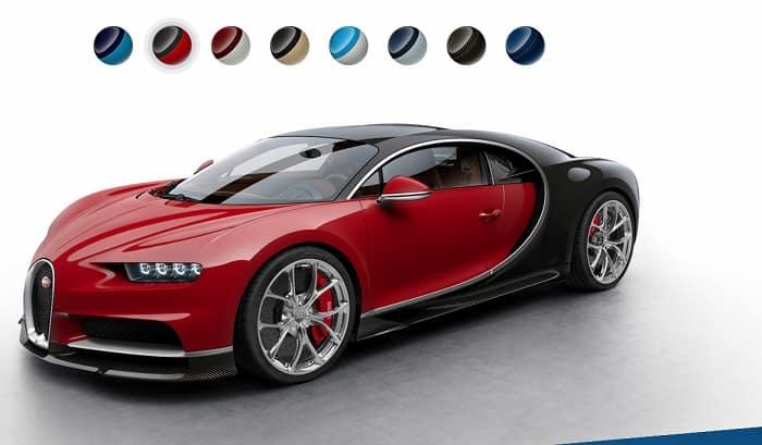 Bugatti Chiron novas cores