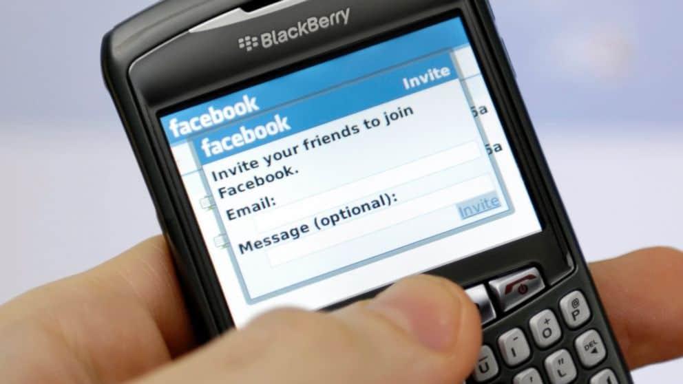 Facebook app blackberry