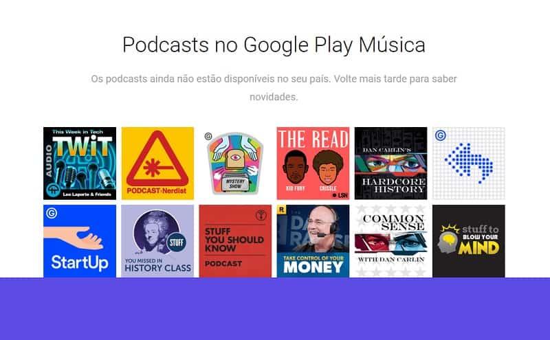 Google Play Podcasts em breve