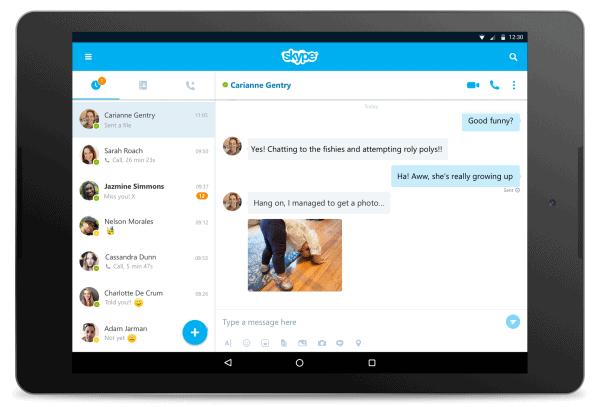 tablet Skype 7.0