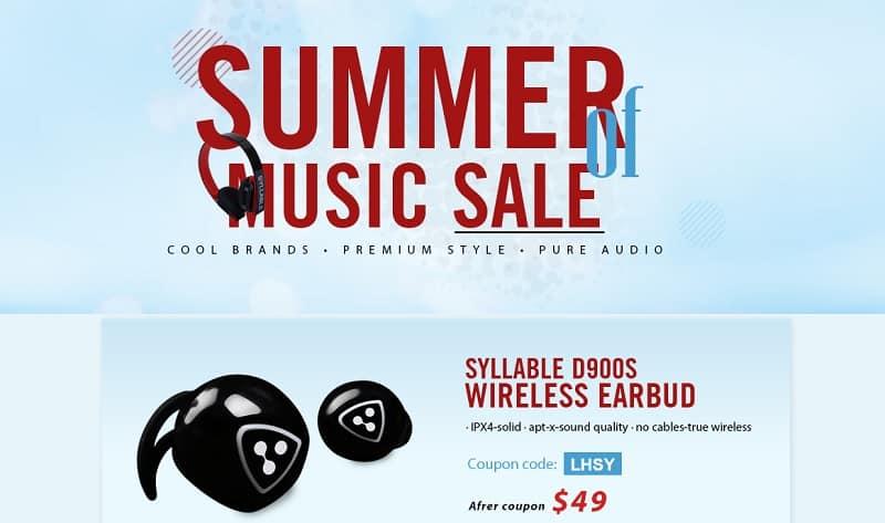 som de verão syllable D900S