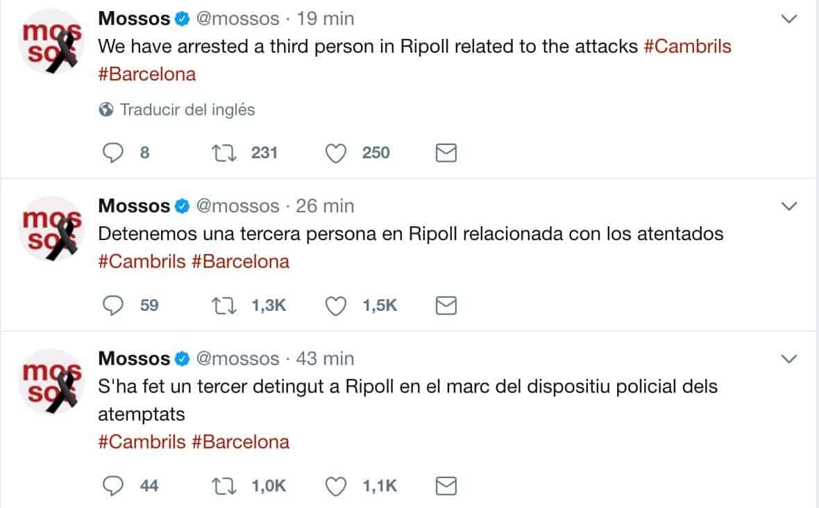 Madrid informa polícias europeias sobre identidade do condutor — Espanha/Ataques