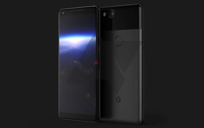 Novas renderizações do Google Pixel 2 chegam à Internet