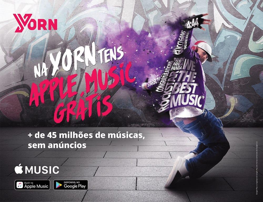 Clientes da Yorn podem usar Apple Music grátis até final do ano