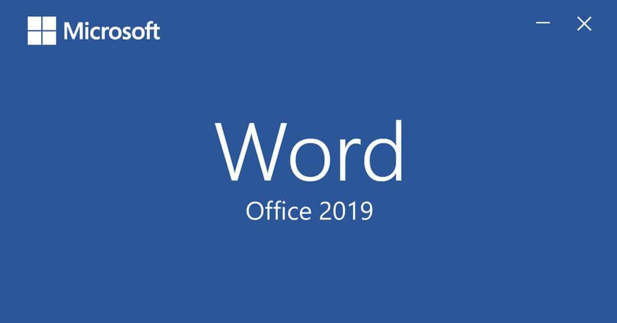 Abertura do Word 2019