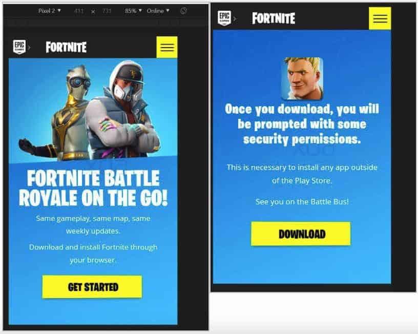 88eebc3456 Será que o Fortnite não estará disponível através da Play Store ...