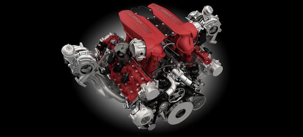Esquema de motor da Ferrari