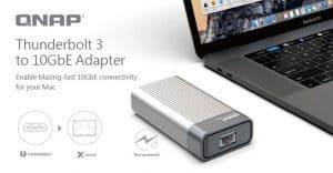 QNAP Revela o Adaptador QNA Series Thunderbolt 3 para 10GbE