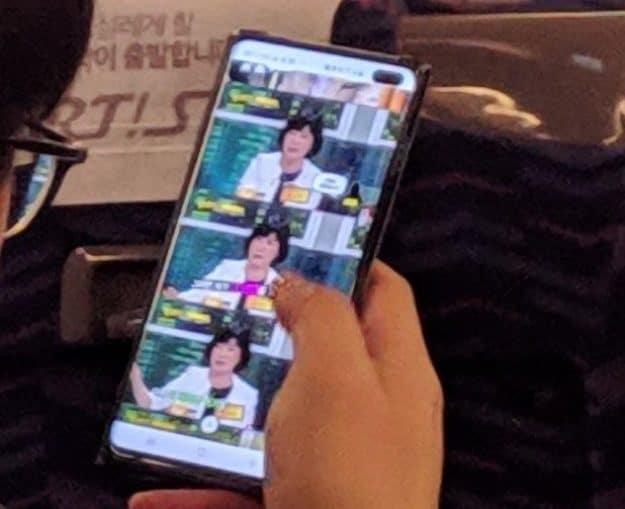 Imagem real do Galaxy S10 Plus confirma câmaras frontais no ecrã