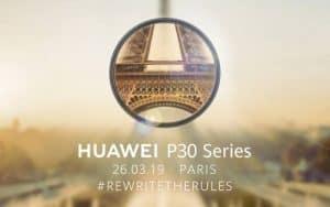 Huawei lançará a nova linha P30 em evento em Paris
