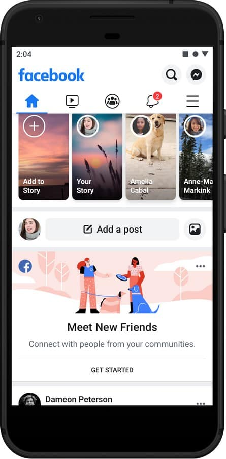 2add412c9 O Facebook Groups será também integrado, tornando possível conhecer novos  amigos das comunidades mais significativas para o utilizador no Facebook.