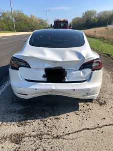 Tesla Model 3 - crash