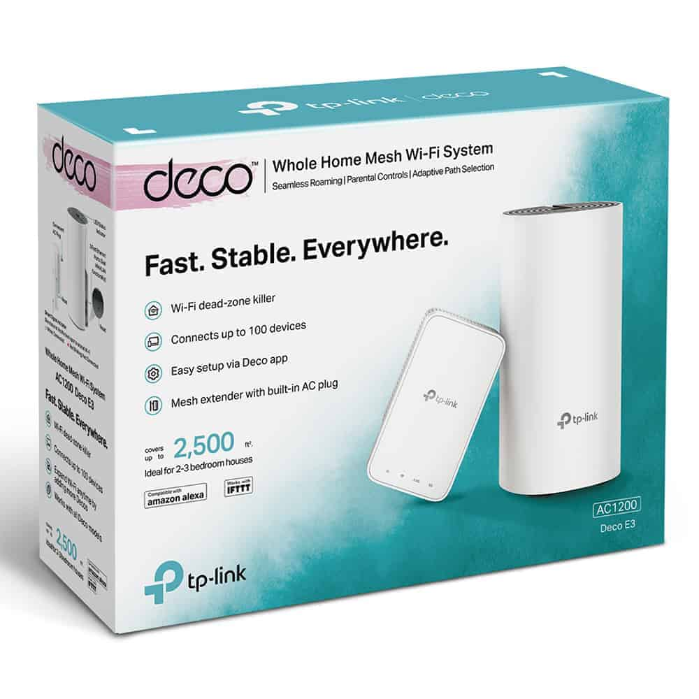 TP-Link Introduces Deco E3 Wi-Fi Mesh System