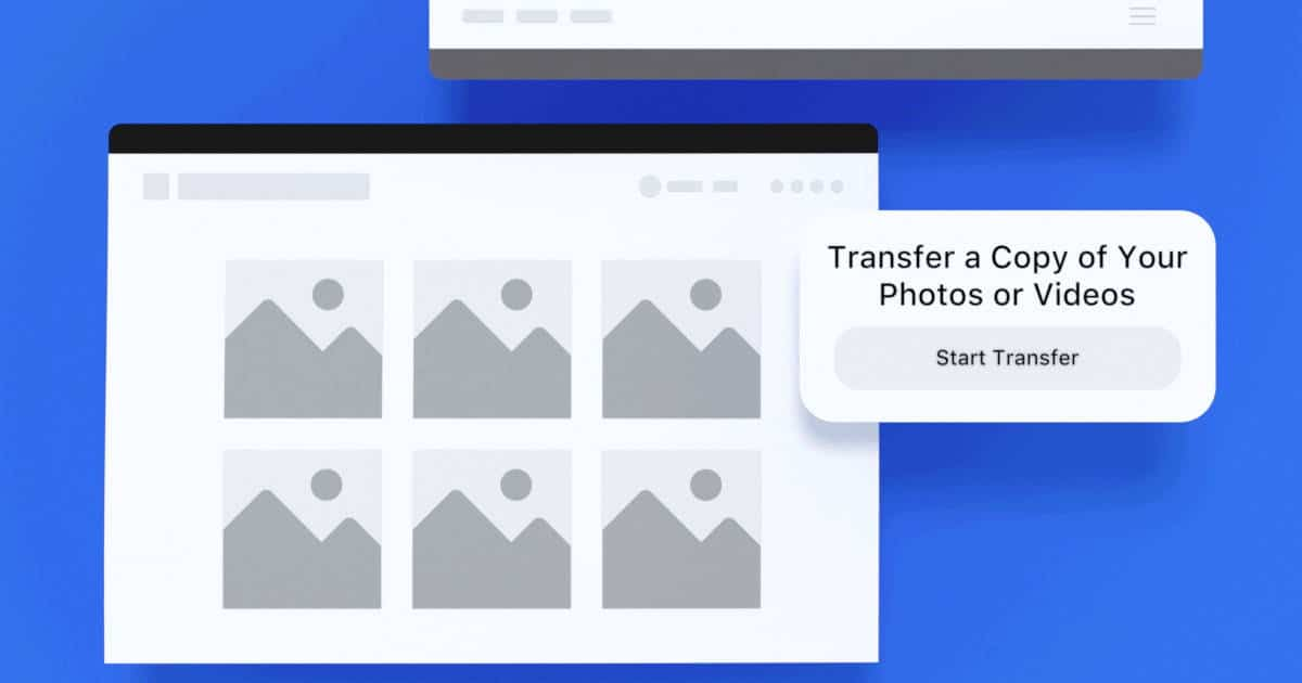 The new Facebook tool makes it easy to transfer photos and videos to your ...
