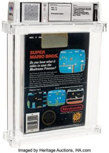 A sealed copy of Super Mario Bros. became the most expensive video game ever